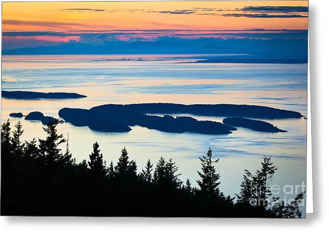 Archipelago Greeting Cards - Sucia Island Greeting Card by Inge Johnsson