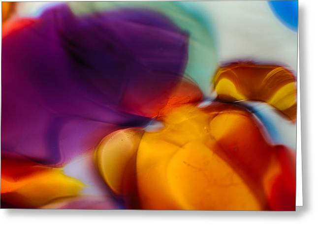 Gold Abstract Glass Art Greeting Cards - Suction Greeting Card by Omaste Witkowski
