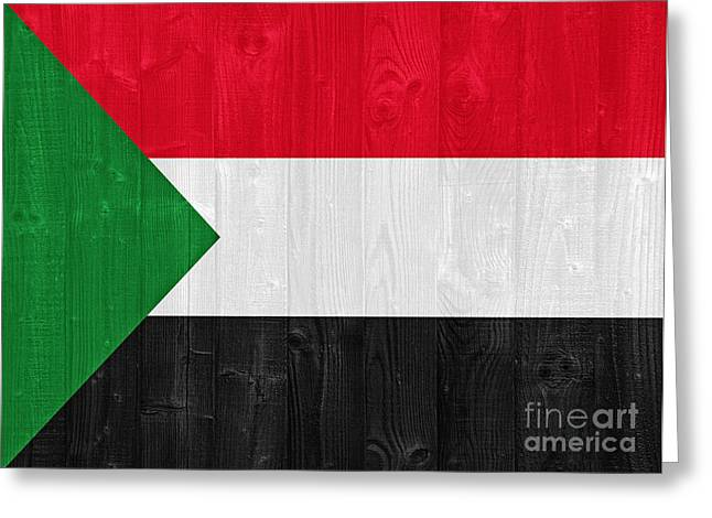 Sudan Flag Greeting Card by Luis Alvarenga