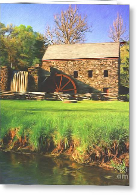 Grist Mill Greeting Cards - Sudbury Grist Mill Greeting Card by Steve Bailey