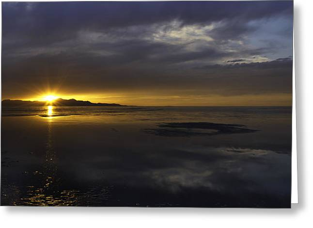 Sudden Glow Greeting Card by Chad Dutson