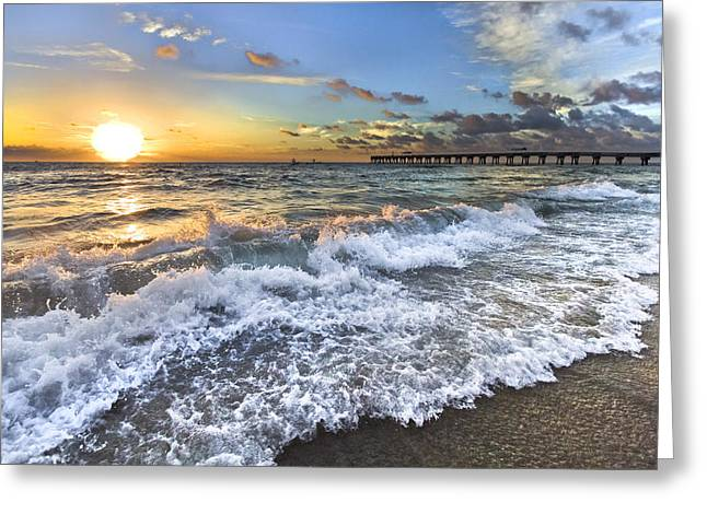 Jupiter Island Greeting Cards - Sudsy Greeting Card by Debra and Dave Vanderlaan