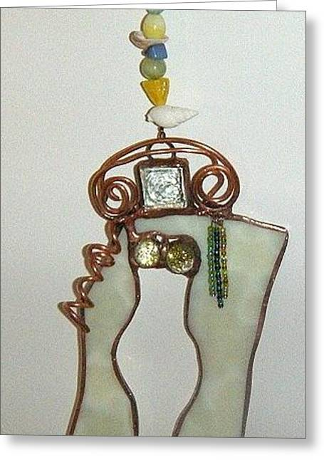 Lady Glass Greeting Cards - Sue Greeting Card by Nora Solomon