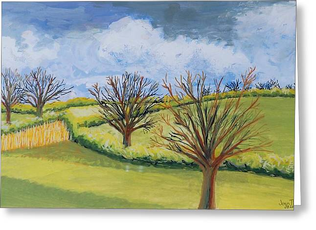 Suffolk Greeting Cards - Suffolk Spring Sky  Greeting Card by Joan Thewsey