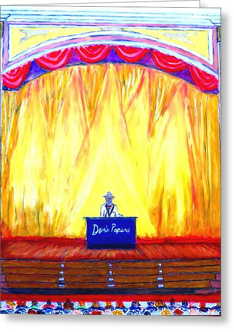 Actions Pastels Greeting Cards - Suffolk Theater- best of the best 2014 Greeting Card by Daniel Dubinsky