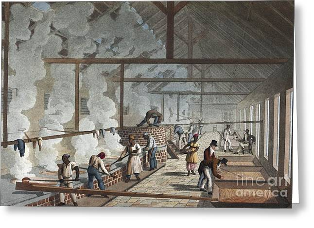 Sugar Factory In Antigua, 1820s Greeting Card by British Library