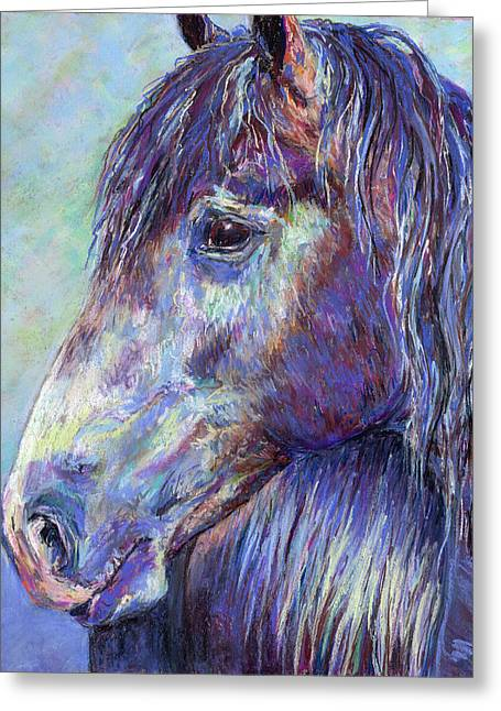Michelle Pastels Greeting Cards - Sugar Gaze Greeting Card by Michelle Bostock