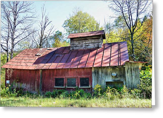 Maple Syrup Greeting Cards - Sugar House Of Old Greeting Card by Deborah Benoit