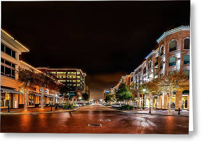 Chang Greeting Cards - Sugar Land Town Square Greeting Card by David Morefield
