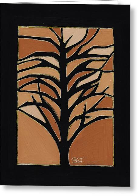 Beige Abstract Drawings Greeting Cards - Sugar Maple Greeting Card by Barbara St Jean