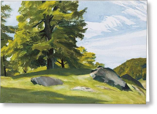 New England Lights Greeting Cards - Sugar Maple Greeting Card by Edward Hopper