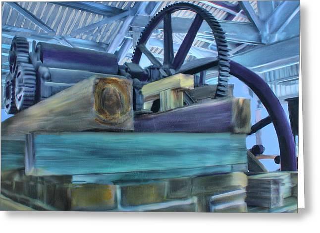 Sugar Mill Gizmo Greeting Card by Deborah Boyd