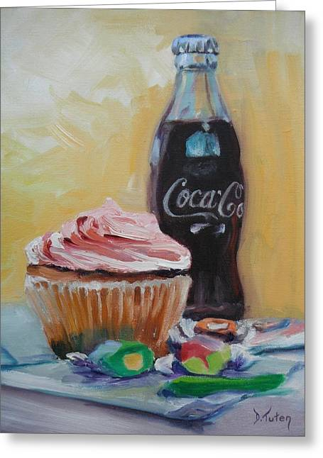 Strawberry Cupcake Greeting Cards - Sugar Overload Greeting Card by Donna Tuten