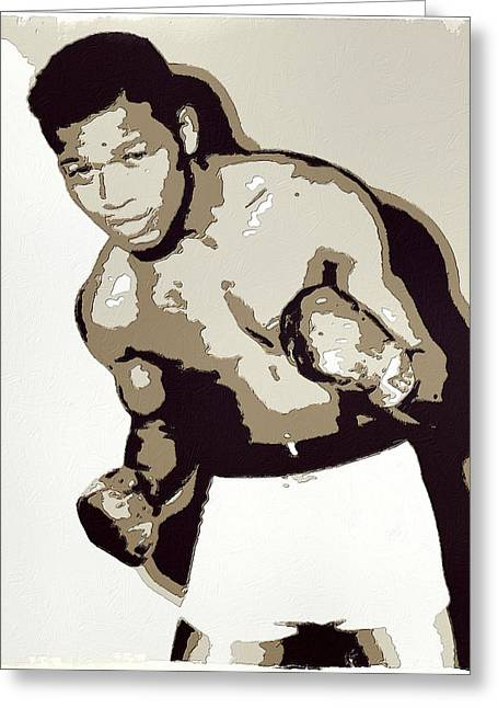 Sugar Ray Robinson Greeting Card by Florian Rodarte