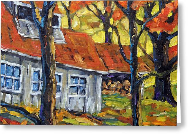 Fire In The Wood Greeting Cards - Sugar Shack Colors by Prankearts Greeting Card by Richard T Pranke