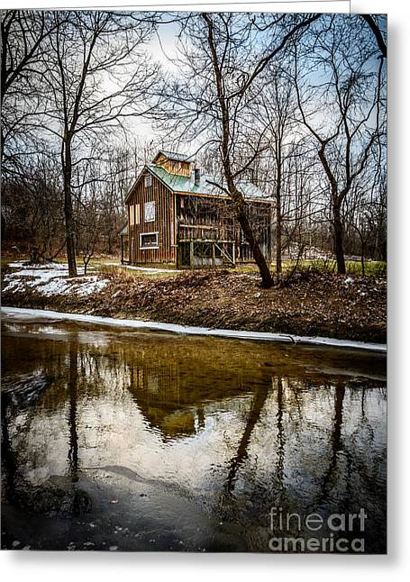 Winter Photos Greeting Cards - Sugar Shack in Deep River County Park Greeting Card by Paul Velgos