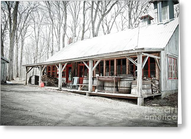 Sugaring Season Greeting Cards - Sugar shack Greeting Card by Isabel Poulin