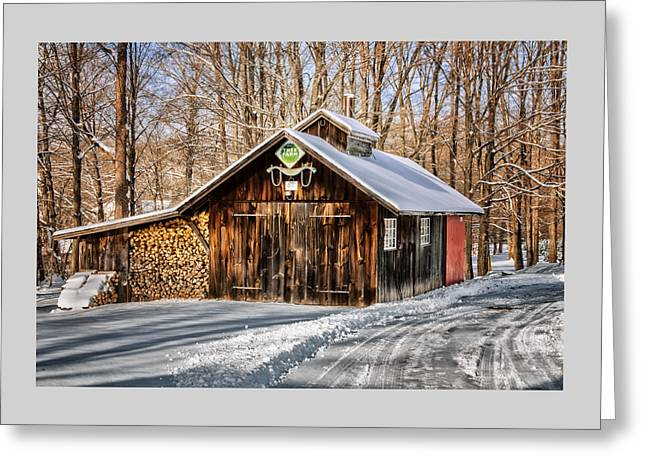 Winter Scenes Rural Scenes Greeting Cards - Sugar Shack - Southbury Connecticut Greeting Card by Thomas Schoeller