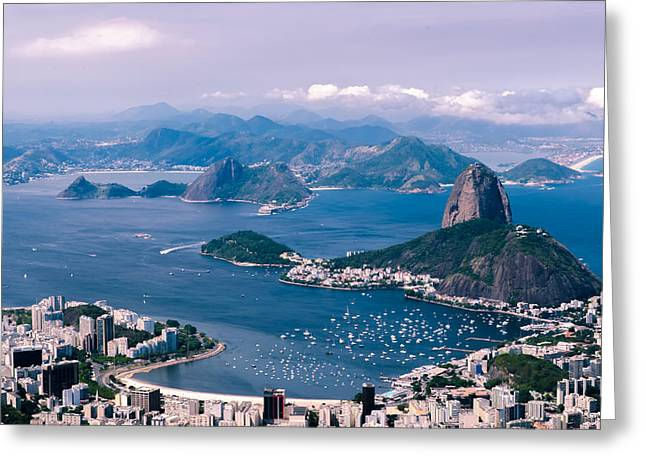 Picturesque Pyrography Greeting Cards - Sugarloaf Mountain Greeting Card by Anastasia E
