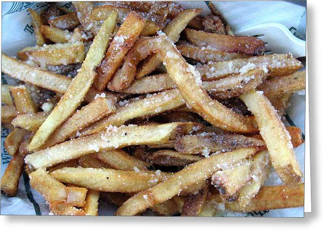 French Fries Greeting Cards - Sugary French Fry Heaven Greeting Card by Amy Hosp