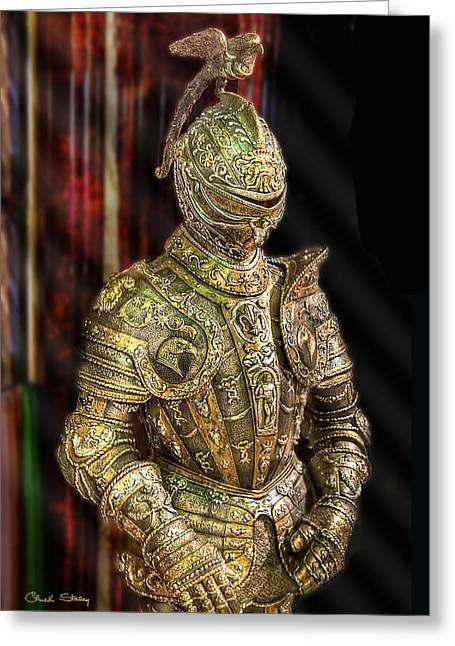 Knight In Shining Armor Greeting Cards - Suit of Armor Greeting Card by Chuck Staley