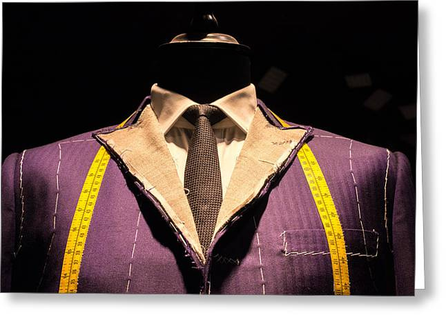 Display Dummy Greeting Cards - Suit on Tailors Dummy  Greeting Card by Chay Bewley