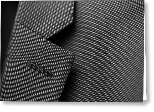 Mike Taylor Greeting Cards - Suit Texture Greeting Card by Mike Taylor