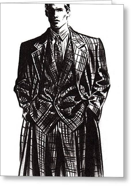 Suit Pastels Greeting Cards - Suited Man  Greeting Card by Angelo Divino