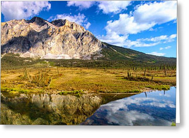 Highway Greeting Cards - Sukakpak Reflection Greeting Card by Chad Dutson