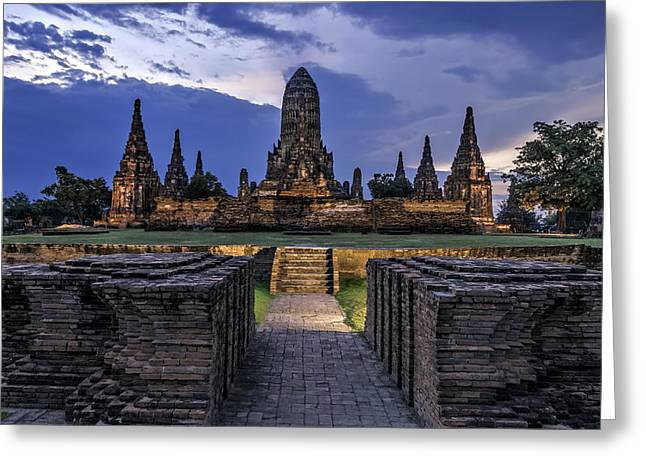 Historic Site Greeting Cards - Temple Greeting Card by Maria Coulson