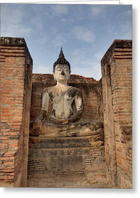 Ancient Greeting Cards - Sukhothai Historical Park - Sukhothai Thailand - 011317 Greeting Card by DC Photographer