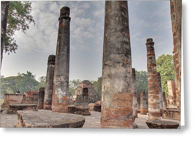 Historical Photographs Greeting Cards - Sukhothai Historical Park - Sukhothai Thailand - 011322 Greeting Card by DC Photographer
