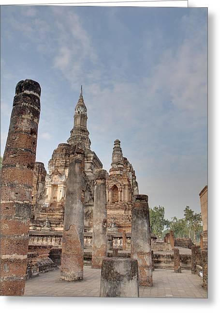 Historical Greeting Cards - Sukhothai Historical Park - Sukhothai Thailand - 011324 Greeting Card by DC Photographer