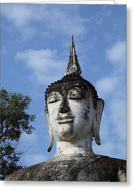 Sukhothai Historical Park - Sukhothai Thailand - 011334 Greeting Card by DC Photographer