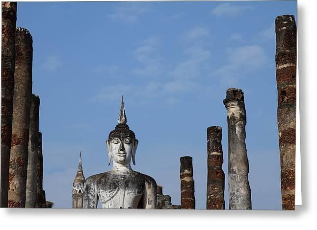 Sukhothai Historical Park - Sukhothai Thailand - 011338 Greeting Card by DC Photographer