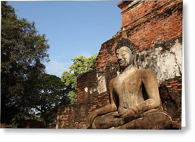 Ancient Greeting Cards - Sukhothai Historical Park - Sukhothai Thailand - 011346 Greeting Card by DC Photographer