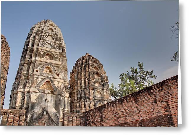 Sukhothai Historical Park - Sukhothai Thailand - 011353 Greeting Card by DC Photographer