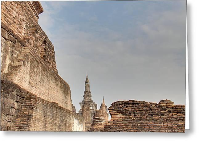 Sukhothai Historical Park - Sukhothai Thailand - 01138 Greeting Card by DC Photographer