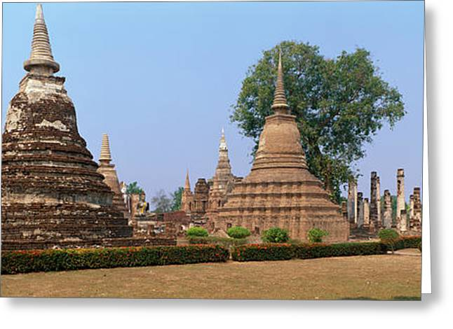 Historic Ruins Greeting Cards - Sukhothai Historical Park Thailand Greeting Card by Panoramic Images