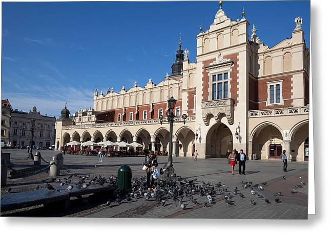 Town Square Greeting Cards - Sukiennice, The Renaisssance Cloth Greeting Card by Panoramic Images