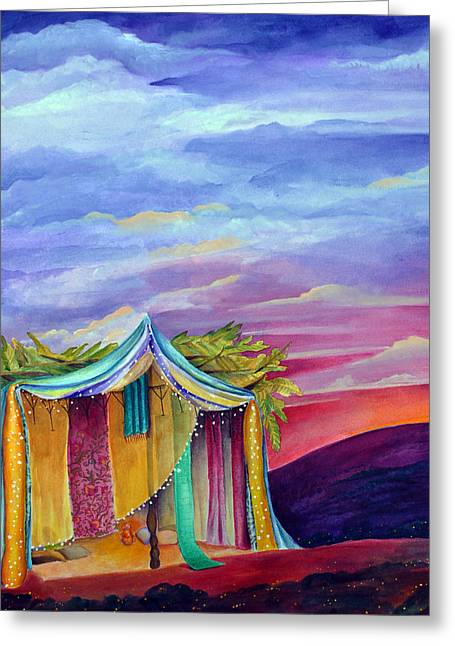 Sukkah Greeting Card by Dawnstarstudios