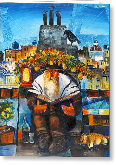 Sukkot Greeting Cards - Sukkot in Brooklyn Greeting Card by Mikhail Zarovny