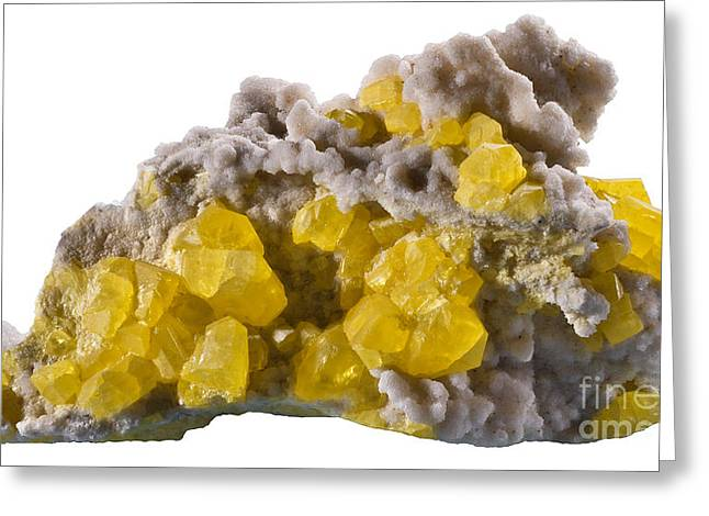 Sulfur Greeting Cards - Sulfur Greeting Card by Phil Degginger