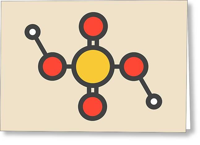 Sulfuric Acid Molecule Greeting Card by Molekuul