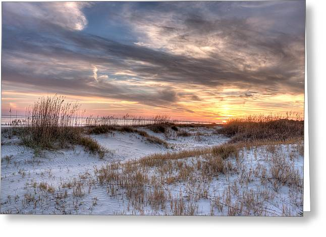 Sullivan' Island At Dusk Greeting Card by Walt  Baker