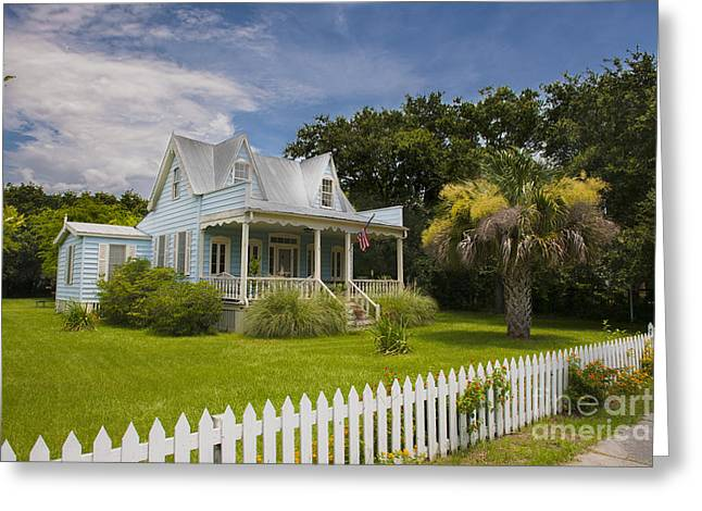 Tin Roof Greeting Cards - Sullivans Island Home Greeting Card by Dale Powell