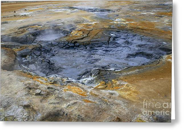 Temperature Greeting Cards - Sulphur Area In Volcanic Landscape Greeting Card by Patricia Hofmeester