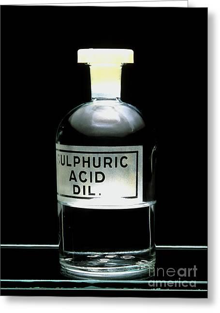 Sulphuric Acid Greeting Card by Martyn F. Chillmaid