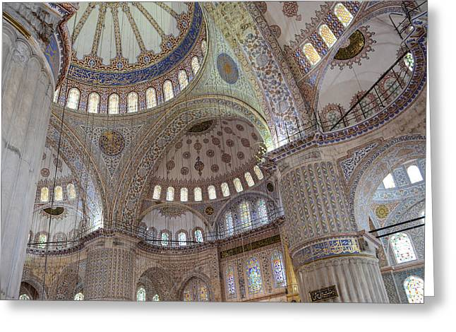 Medieval Temple Greeting Cards - Sultanahmet Mosque Greeting Card by Brandon Bourdages