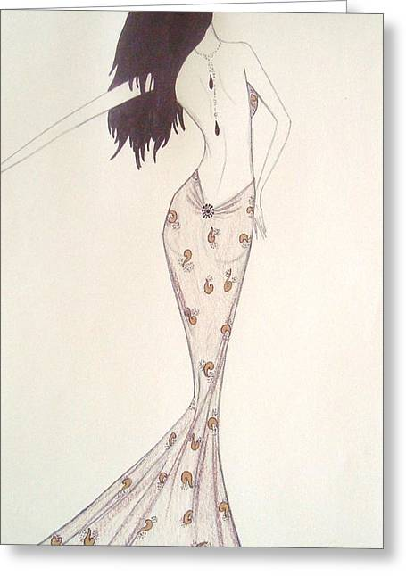 Sultry Sophisticate  Greeting Card by Christine Corretti